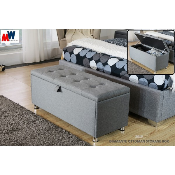 Astonishing Diamante Ottoman Storage Box Ncnpc Chair Design For Home Ncnpcorg